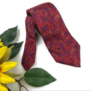 Christian Dior Vintage Abstract Silk Tie